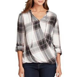 Vintage America Womens Yarn Dyed Plaid Top