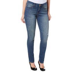 Vintage America Womens Wonderland Distressed Skinny Jeans