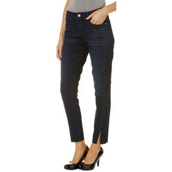 Vintage America Womens Wonderland Studded Split Hem Jeans