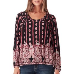 Vintage America Womens Donna Crochet Paisley Top