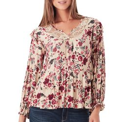 Vintage America Womens Lois Boho Floral Top
