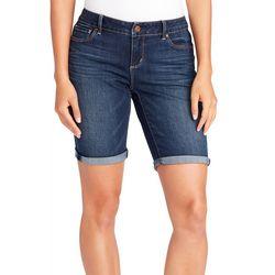 Vintage America Womens Denim Roll Cuff Shorts