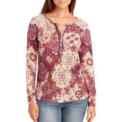 Vintage America Womens Dinah Boho Floral Crochet Top