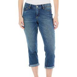 Vintage America Womens Roll Cuff Crop Jeans