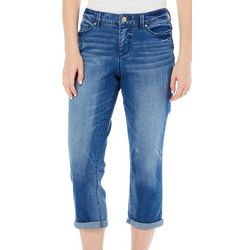 Vintage America Womens Faded Crop Jeans