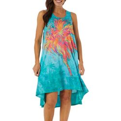 Womens Sleeveless Palm Hugger Dress