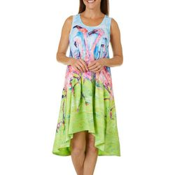 Womens Flamingo T-Shirt Dress