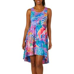 Leoma Lovegrove Womens Calypso Print Sleeveless Sundress
