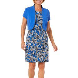 ILE NY Womens Floral Jacket Dress