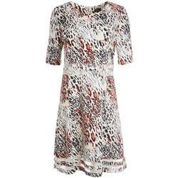 Womens Animal Print Mesh Dress