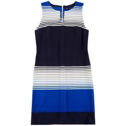 Womens Striped 3-Ring Dress
