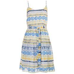 Emma & Michelle Womens Tiered Bright Tie-Dye Dress