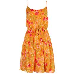 Emma & Michelle Womens Tiered Floral Dress