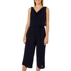 Emma & Michelle Womens Solid Tie Waist Sleeveless