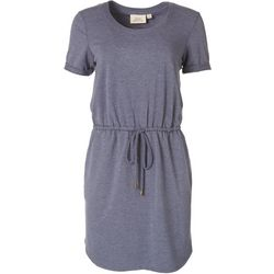 Emma & Michelle Womens Solid Casual Cutout Dress