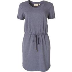 Womens Solid Casual Cutout Dress