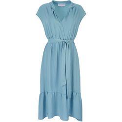 Emma & Michelle Womens Solid Ruffle Dress