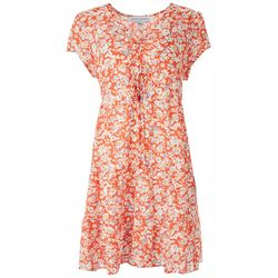 Emma & Michelle Womens Floral Short Dress