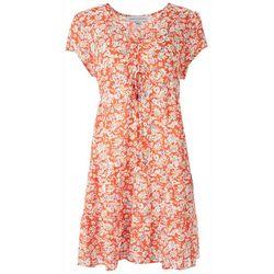 Emma & Michelle Womens Floral Short Dress