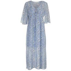 Emma & Michelle Womens See Through Spots Maxi Dress