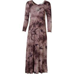 Emma & Michelle Womens Tie-Dye Maxi Dress