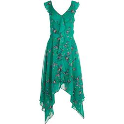 Emma & Michelle Womens Green Garden Short Dress