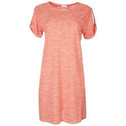 Womens Striped T-Shirt Dress