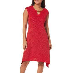 Ruby Road Favorites Womens Embellished Keyhole Dress