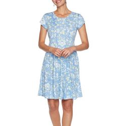 Ruby Rd Womens Floral Poppy Printed Dress