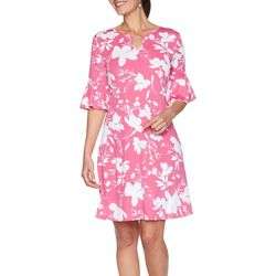 Ruby Rd Womens Floral A-Line Dress