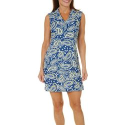 Aryeh Womens Paisley Print Sleeveless Shift Dress