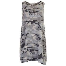 GRACE + KARMA Womens Camo Tank Dress