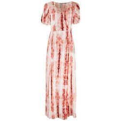American Rag Womens Tie-Dye Split Hem Maxi Dress