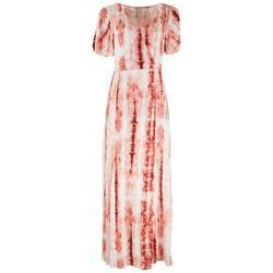 Womens Tie-Dye Split Hem Maxi Dress