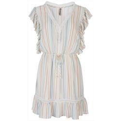 Womens Boho Striped Dress