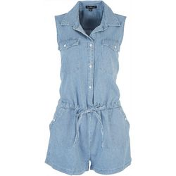Velvet Heart Womens Striped Button Down Romper