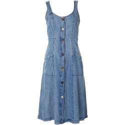 Velvet Heart Womens Denim Button Down Dress