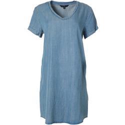 Womens Chambray Tencel Dress
