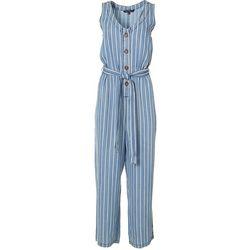 Velvet Heart Womens Striped Button Jumpsuit