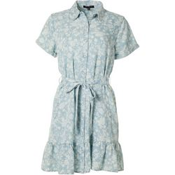 Velvet Heart Womens Floral Button Down Dress