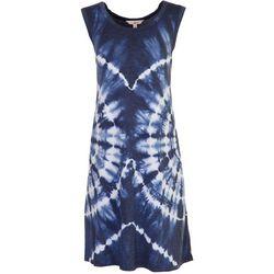 FUDA Womens Cool Tie-Dye Tank Dress
