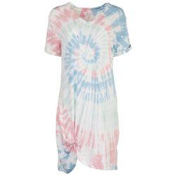 FUDA Womens Tie-Dye T-Shirt Dress