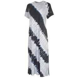 Womens Tie-Dye Crew Neck T-Shirt Dress