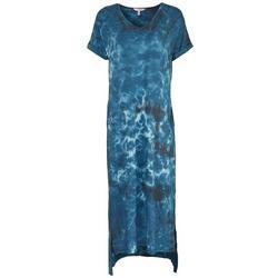 Womens Tie-Dye T-Shirt Maxi Dress