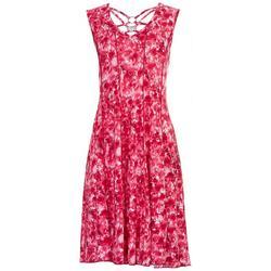 Womens Neck Rings Swing Dress