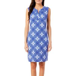 Sami & Jo Womens Geometric Patchwork Shift Dress