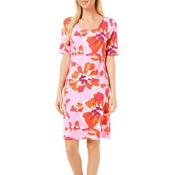 Sami & Jo Womens Floral Print Shift Dress