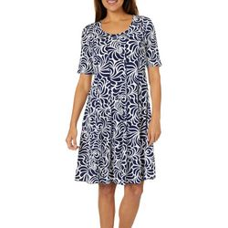 Sami & Jo Womens Swirl Print Panel Dress