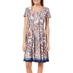 Sami & Jo Womens Paisley Panel T-Shirt Dress