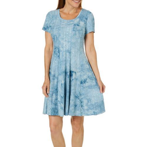 Sami Jo Womens Sequin T Shirt Dress Bealls Florida